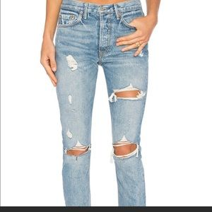 GRLFRND Travelin band jeans. LOOKING TO TRADE